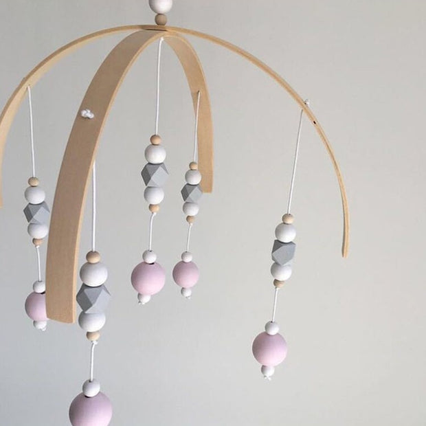 Handmade Wooden Baby Crib Mobile