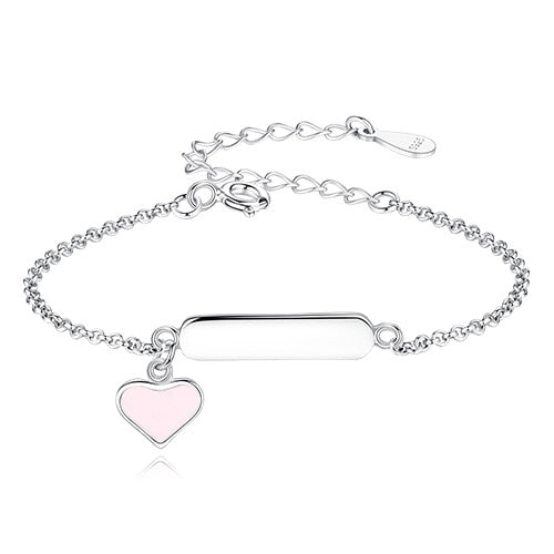 Sterling Silver Personalized Baby Bracelet