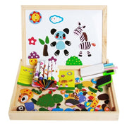 Magnetic Jigsaw Puzzle and Drawing Board