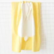 yellow 3D Baby Bunny Knitted Stroller Blanket organic cotton