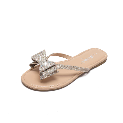 Sparkly Bow Sandals