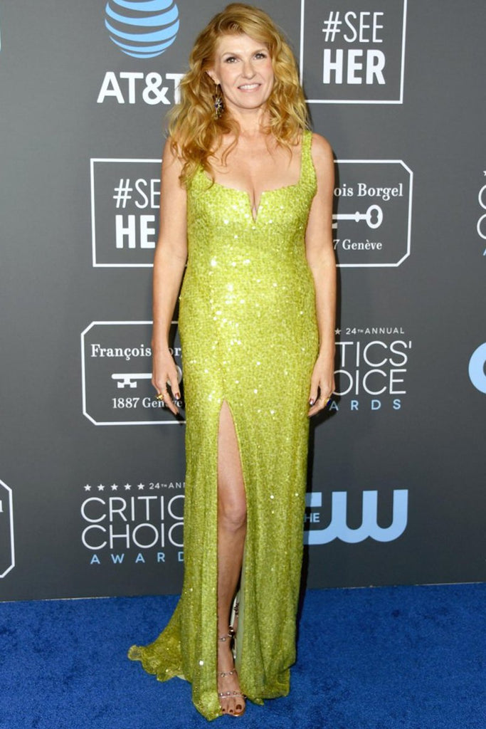 Connie Britton wears custom Galvan to Critics Choice Awards