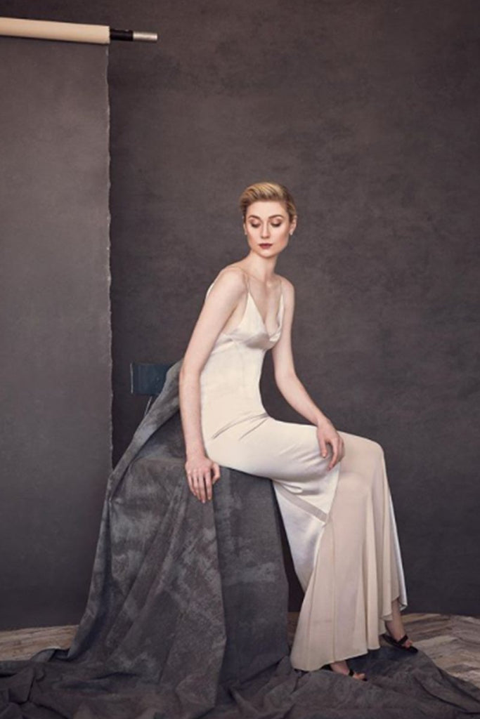 Elizabeth Debicki wears Galvan for Widows press