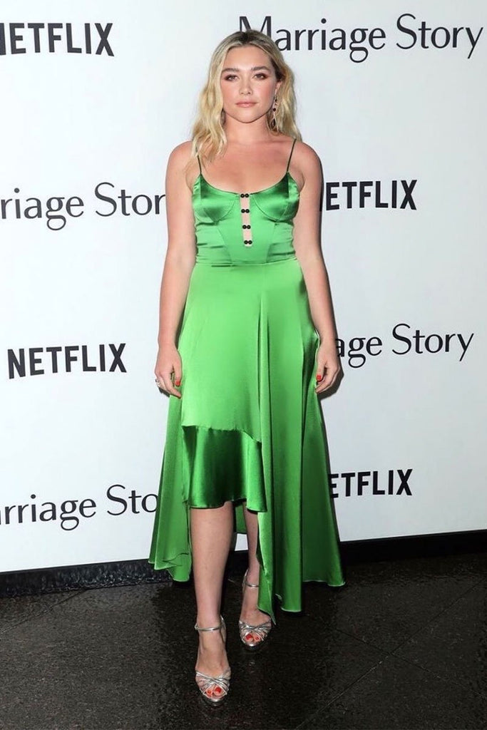 "Florence Pugh in Galvan at ""Marriage Story"" premiere"