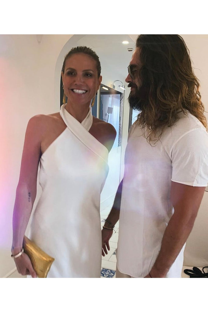 Heidi Klum wears Galvan for her wedding celebrations