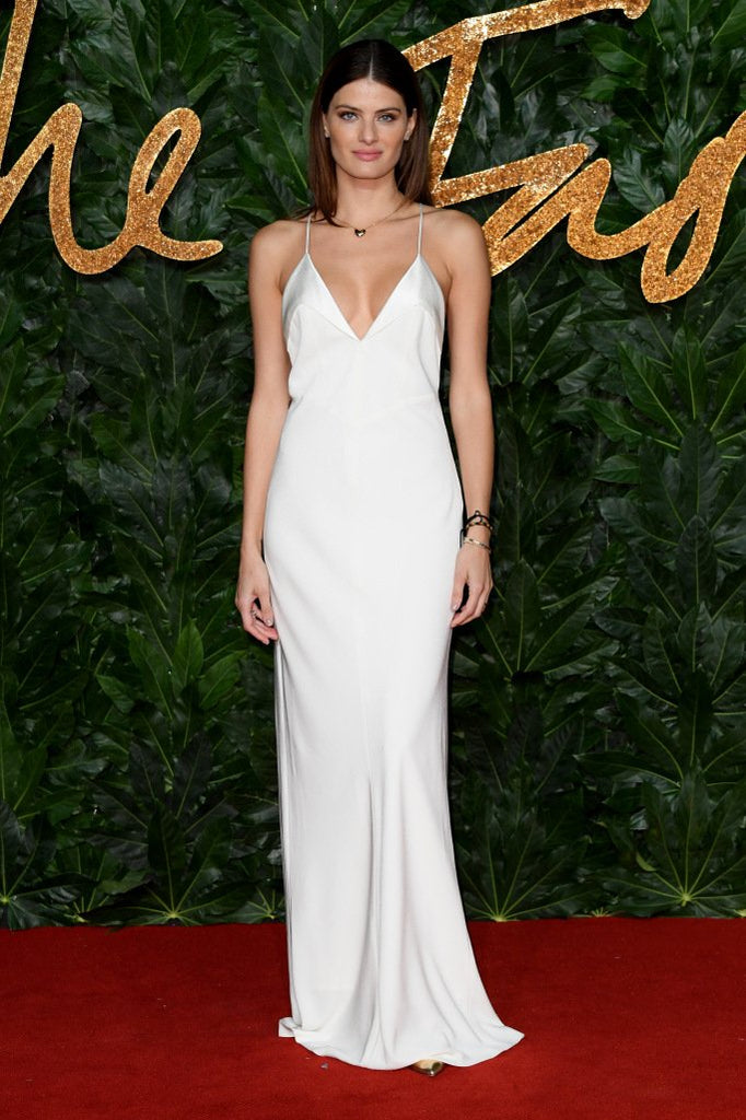Isabeli Fontana wears Galvan to the British Fashion Awards