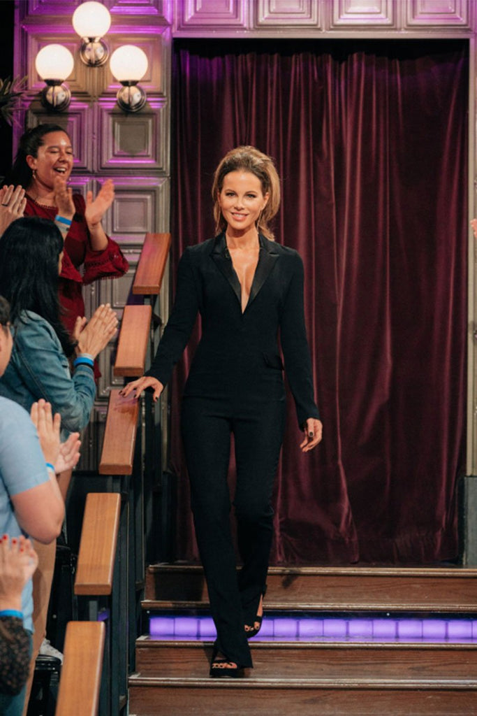 Kate Beckinsale in Galvan on James Corden Show