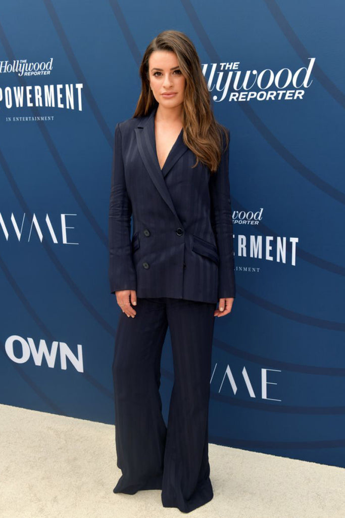 Lea Michele wears Galvan at Hollywood Reporter event