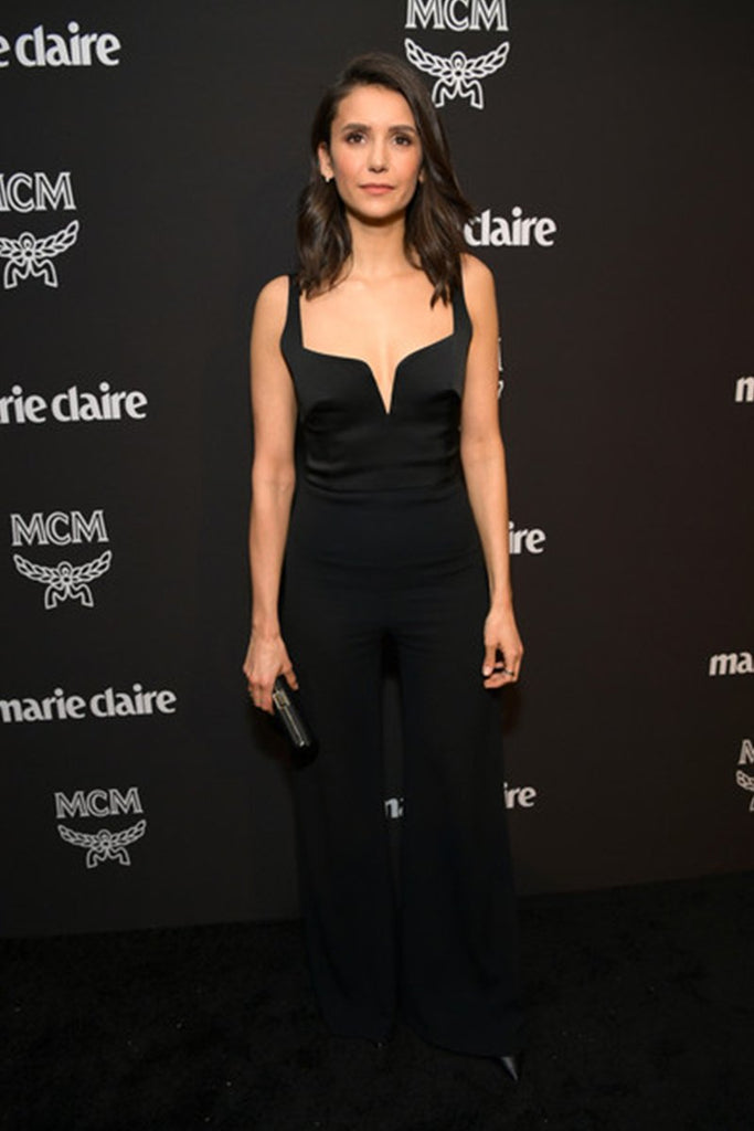 Nina Dobrev wears Galvan at the Marie Claire Change Makers Party