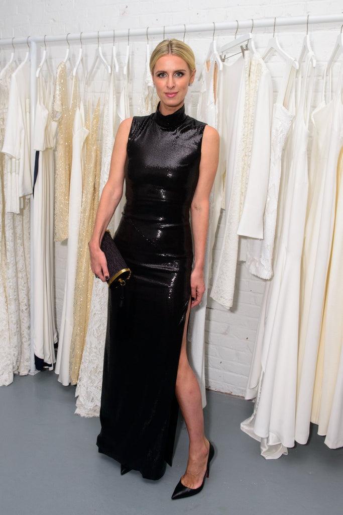 Nicky Hilton wears Galaxy dress to Galvan's New York studio launch party