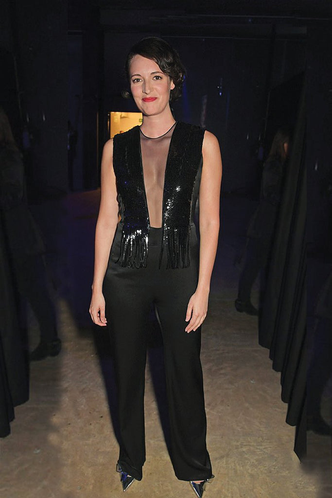 Phoebe Waller-Bridge wears Galvan jumpsuit