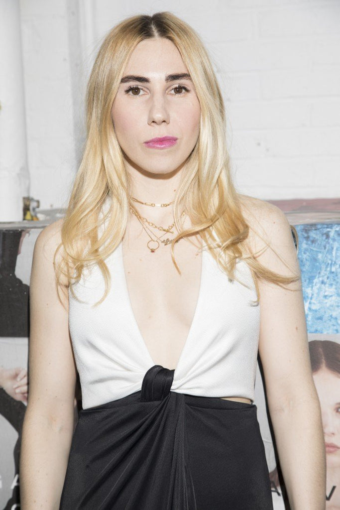 Zosia Mamet wears Eclipse gown to Galvan's Soho launch