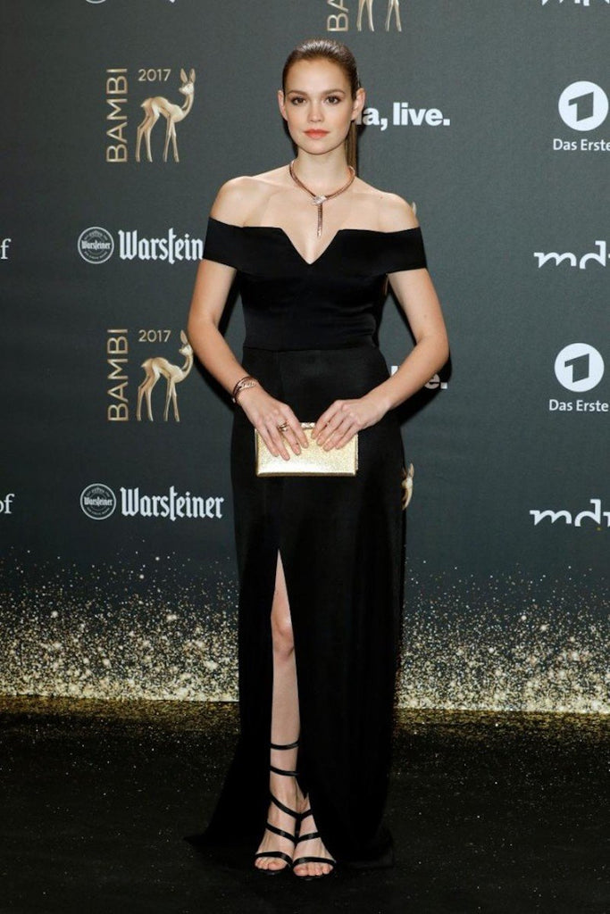 Emilia Schüle wears Galvan to the Bambi Award Ceremony
