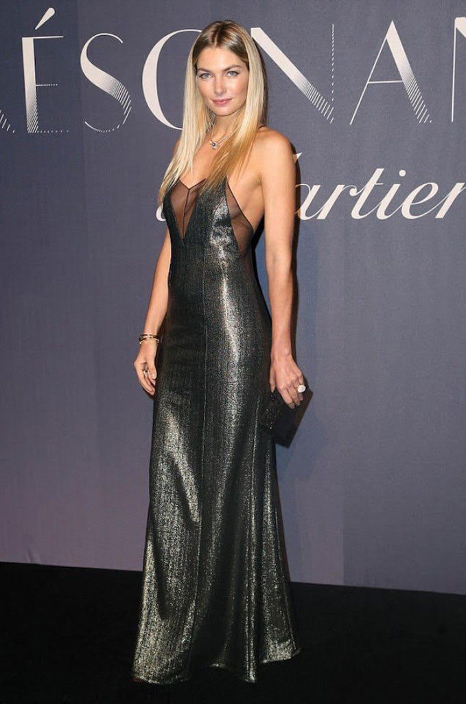 Jessica Hart wears Galvan to Cartier event in NYC