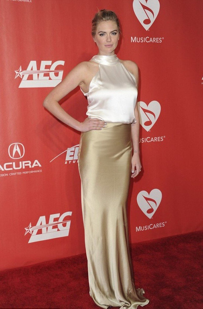 Kate Upton wears Galvan at MusiCares Person of the Year Gala