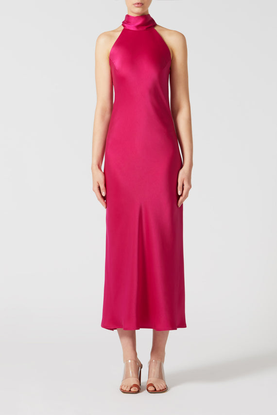 Cropped Sienna Dress - Fuchsia