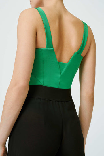 Corset Bodysuit - Jungle Green