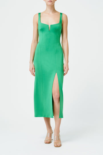 Corset Cocktail Dress - Jungle Green