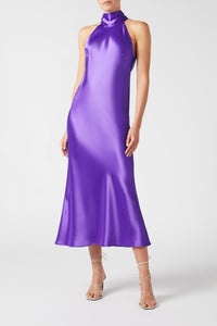 Cropped Sienna Dress - Purple