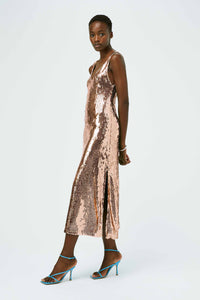 Mirrored Cropped Valletta Dress - Rose Gold