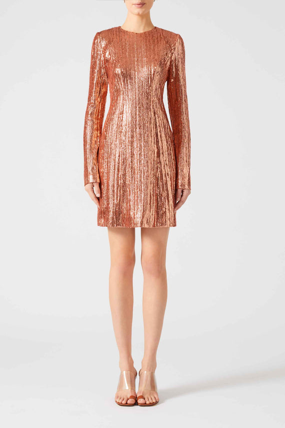Dusk Mini Dress - Rose Gold