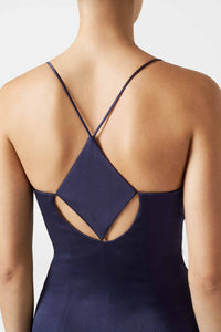 Diamond Cut Out Dress - Midnight