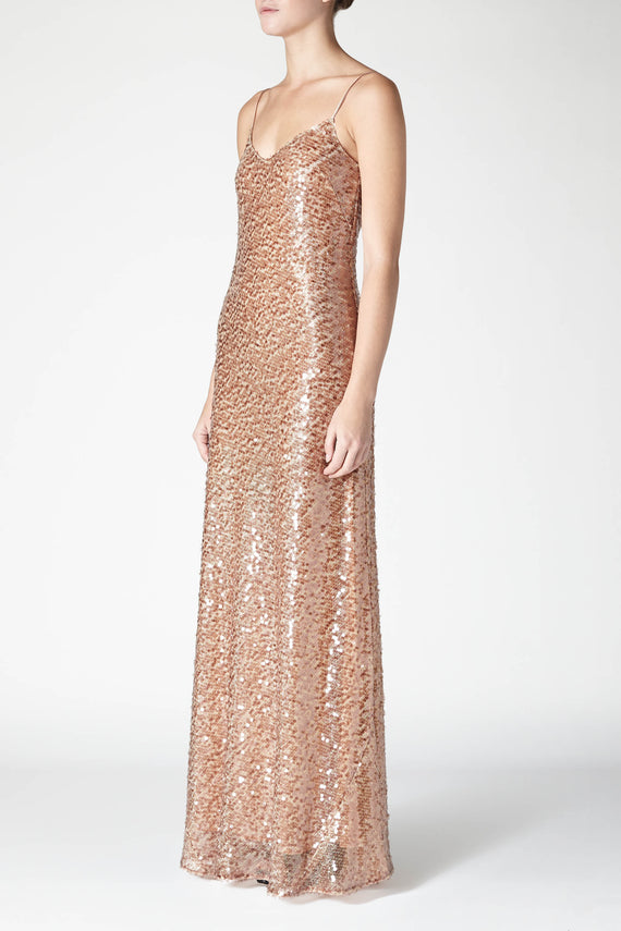 Estrella Spaghetti Strap Dress - Copper