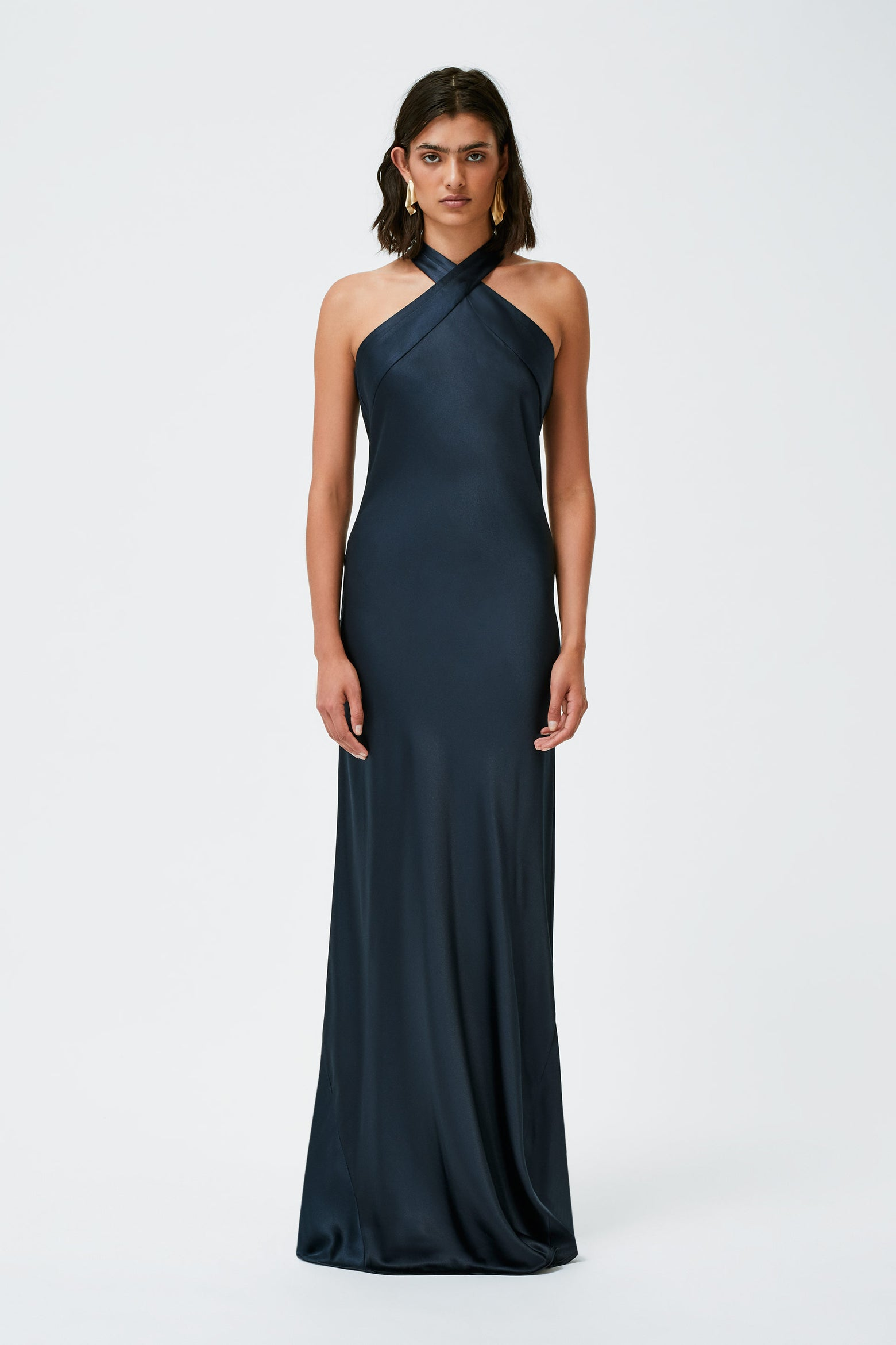 Silk Eve Dress - Midnight