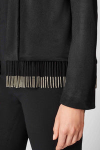Molten Fringe Jacket - Black