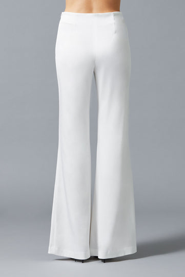 High Waisted Satin Bridal Trousers