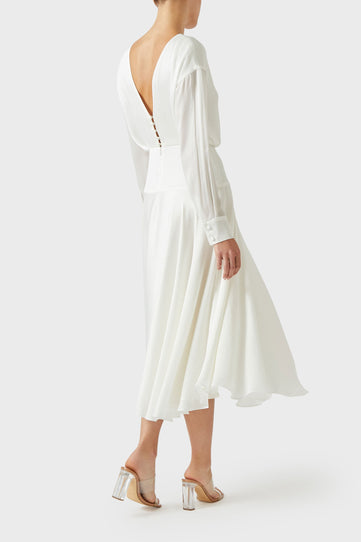 Majorelle Cocktail Dress - White