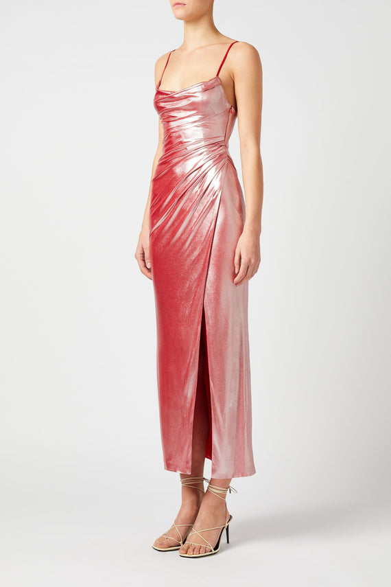 Mars Dress - Metallic Pink