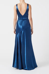 Metallic Bella Dress - Midnight