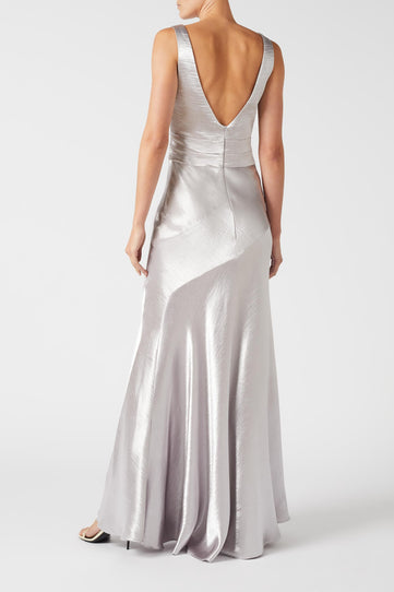 Metallic Bella Dress - Silver