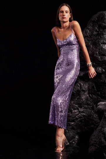 Mirrored Berlin Bustier Dress - Mauve