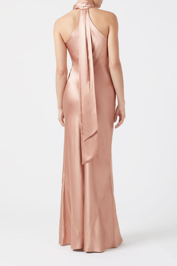Silk Pandora Dress - Rose Gold