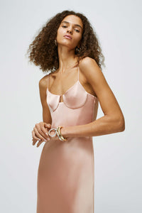 Phoebe Bustier Dress - Rose Gold