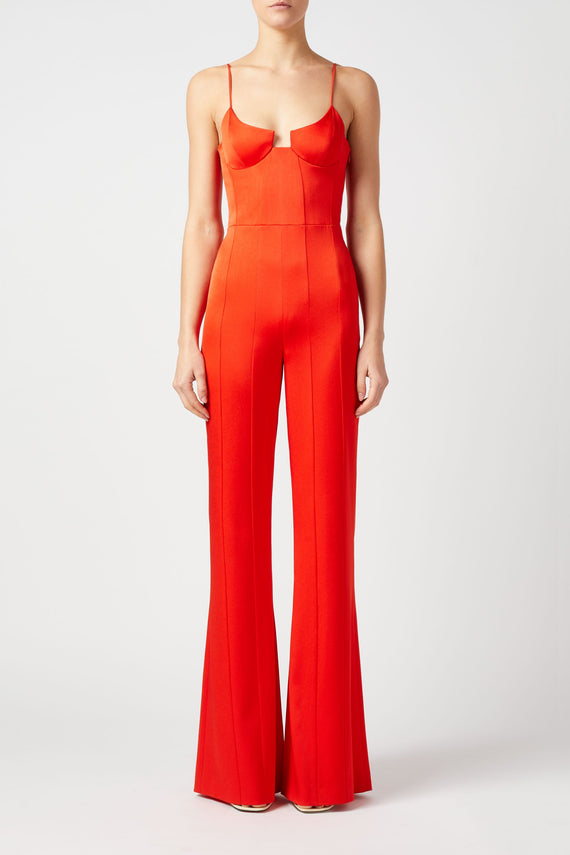 Phoebe Jumpsuit - Red