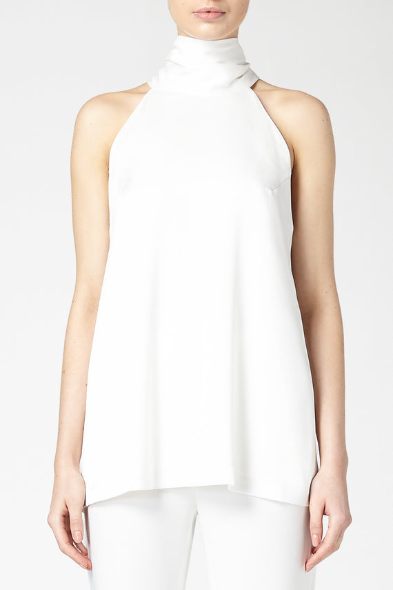 Sash Neck Tunic - White