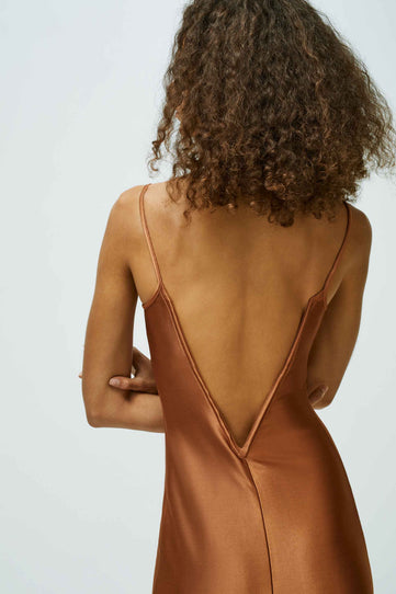 Sahara Bustier Dress - Cinnamon