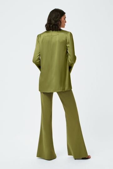 Satin Slip Jacket - Safari Green