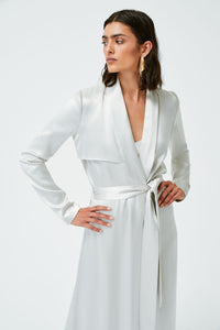 Satin Trench Coat - Platinum
