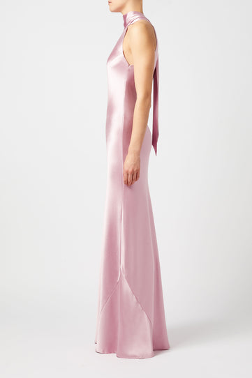 Silk Sienna Dress - Blush
