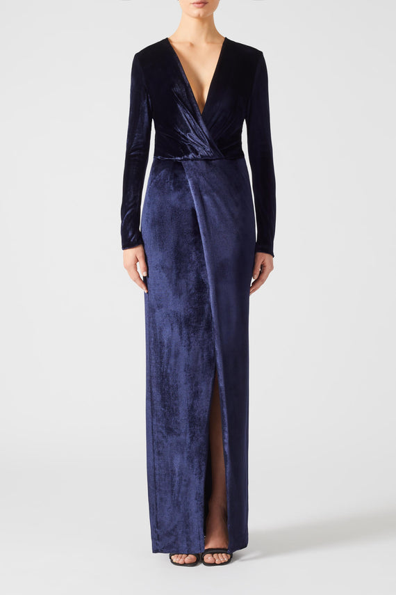 Vera Velvet Dress - Midnight