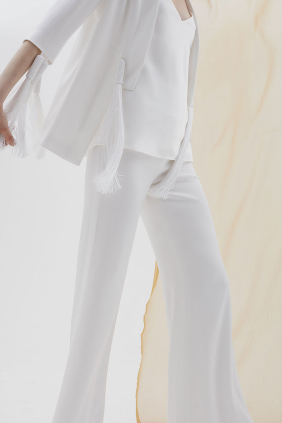 Wide Leg Bridal Trousers