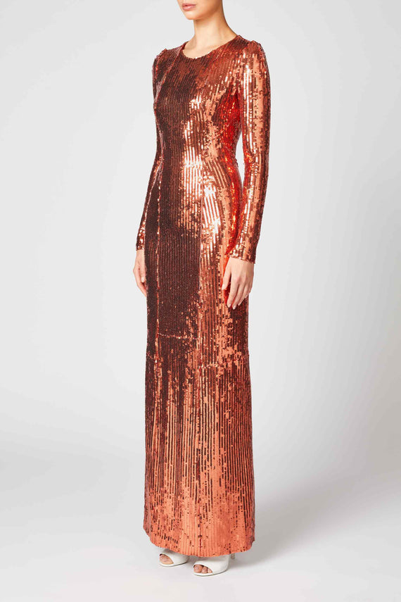 Adela Backless Dress - Bronze