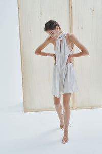 Puglia Mini Metallic Bridal Dress