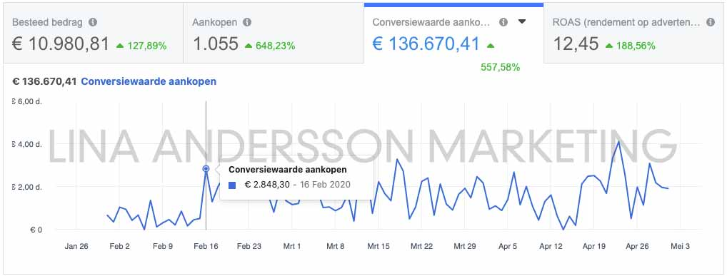 facebook-ads-resultaten-lina-andersson-webshop-marketing-webshop-success-hub