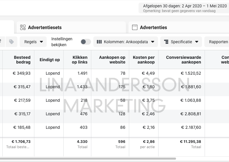 facebook-ads-resultaten-lina-andersson-webshop-marketing-success-hub
