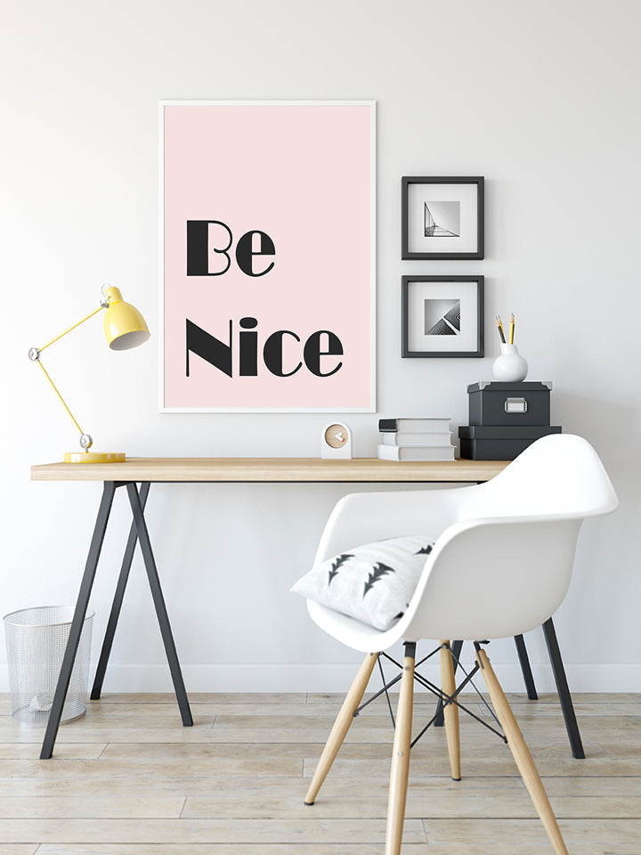 Be Nice - Typography Print